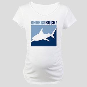 Sharks Rock! Maternity T-Shirt