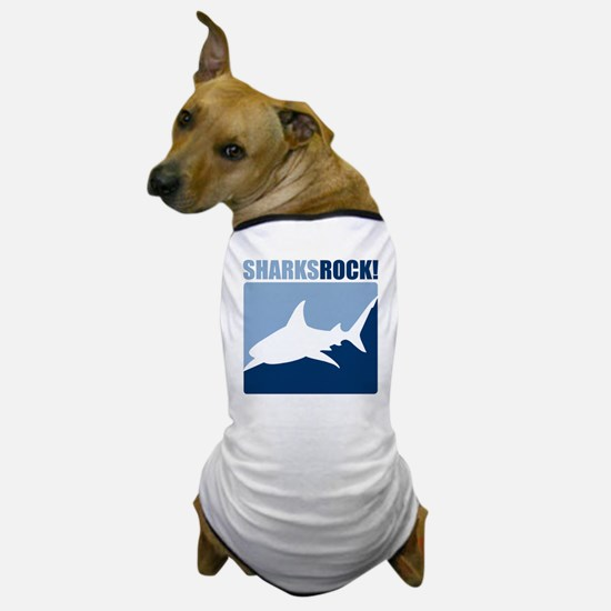 Sharks Rock! Dog T-Shirt