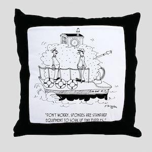 Boat Cartoon 5582 Throw Pillow