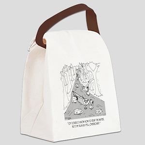 Boating Cartoon 4656 Canvas Lunch Bag