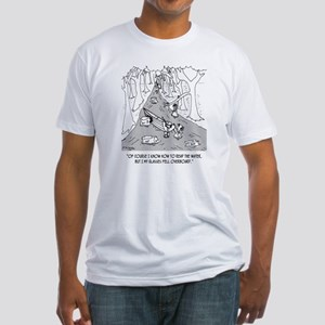 Boating Cartoon 4656 Fitted T-Shirt