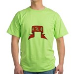 Skulls Red Banner Green T-Shirt