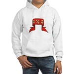Skulls Red Banner Hooded Sweatshirt