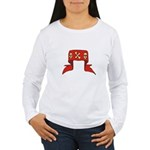 Skulls Red Banner Women's Long Sleeve T-Shirt
