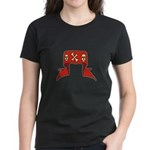 Skulls Red Banner Women's Dark T-Shirt