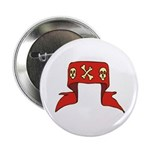 Skulls Red Banner Button