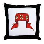 Skulls Red Banner Throw Pillow
