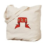 Skulls Red Banner Tote Bag