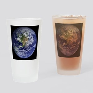 Earth NASA Blue Marble image Drinking Glass
