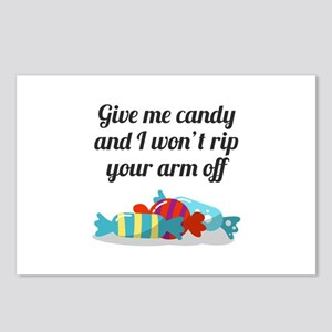 Just Want Candy Halloween Postcards (Package of 8)