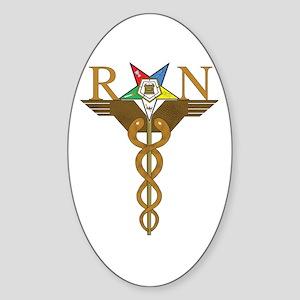 OES Registered Nurses Oval Sticker