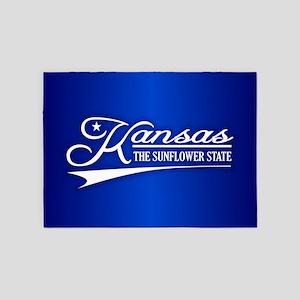 Kansas State of Mine 5'x7'Area Rug