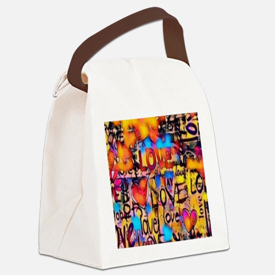 Cute Valentine Canvas Lunch Bag