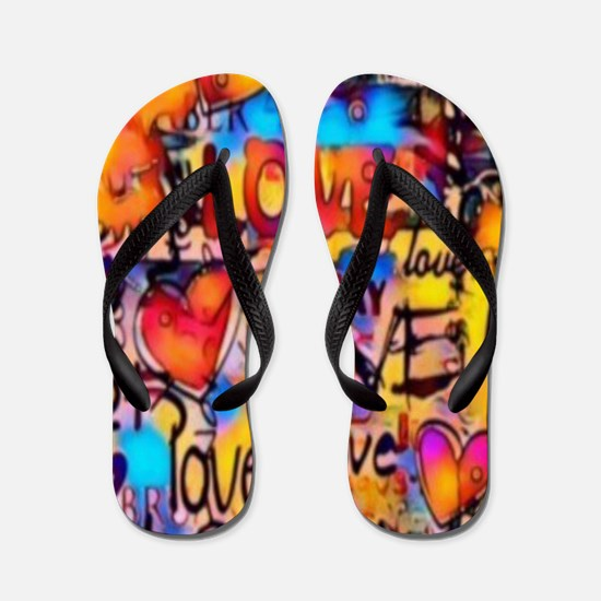 Cool Captain planet heart Flip Flops