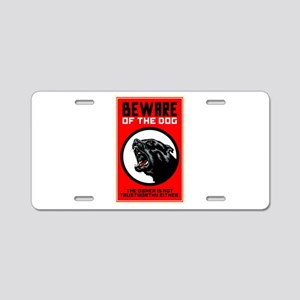 Beware Of Dog Aluminum License Plate