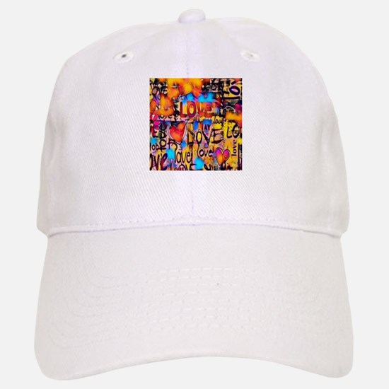 Graffiti Love Baseball Baseball Cap