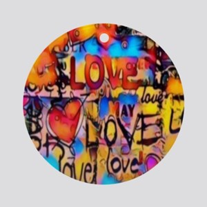 Graffiti Love Round Ornament
