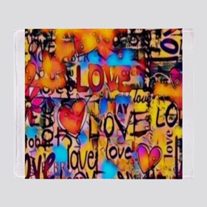 Graffiti Love Throw Blanket