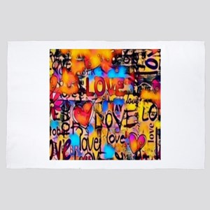 Graffiti Love 4' x 6' Rug