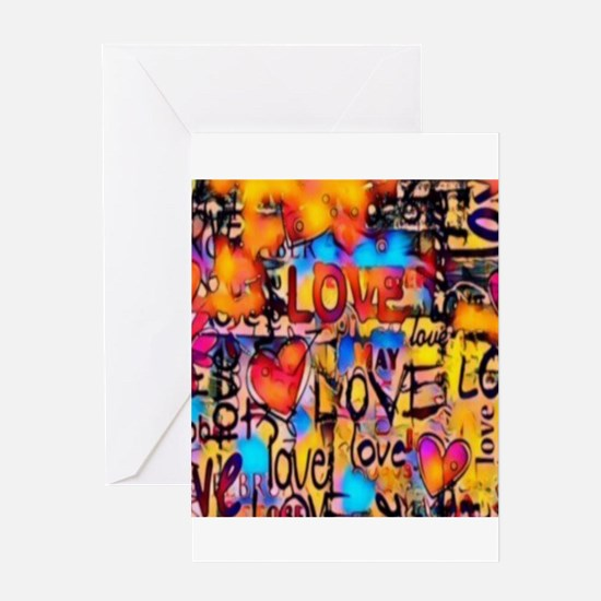 Graffiti Love Greeting Cards