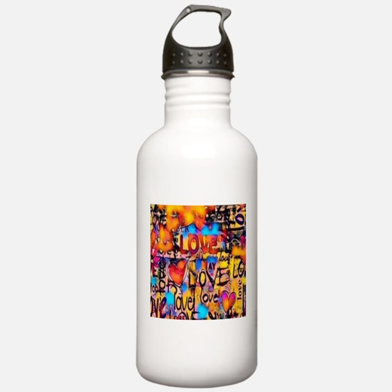 Graffiti Love Water Bottle