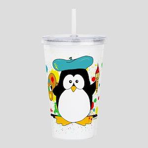 Artistic Penguin Acrylic Double-wall Tumbler