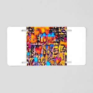 Graffiti Love Aluminum License Plate