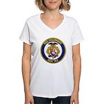 USS COLUMBUS Women's V-Neck T-Shirt