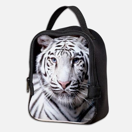 White Bengal Tiger Neoprene Lunch Bag