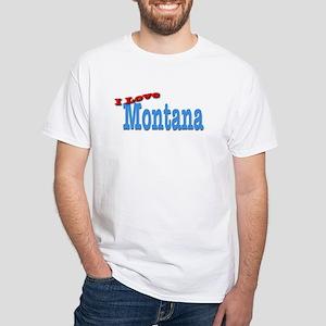 I Love Montana White T-Shirt