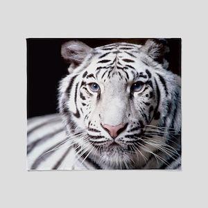 White Bengal Tiger Throw Blanket