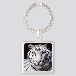 White Bengal Tiger Keychains