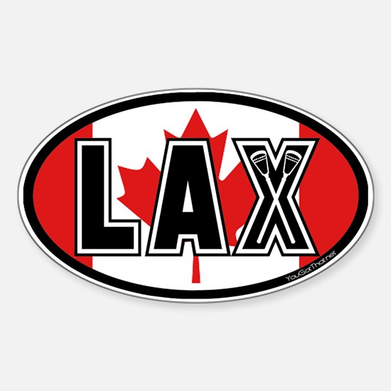 Lacrosse Canada Oval Decal