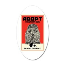 Senior Dogs Rock! Wall Decal