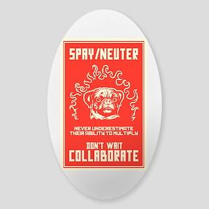Spay/Neuter Sticker (Oval)