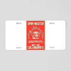 Spay/Neuter Aluminum License Plate