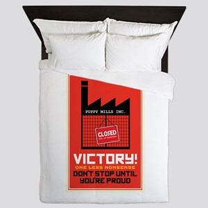 Against Puppy Mills Queen Duvet