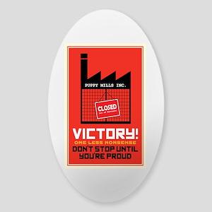 Against Puppy Mills Sticker (Oval)