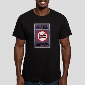 Stop Puppy Mills Men's Fitted T-Shirt (dark)