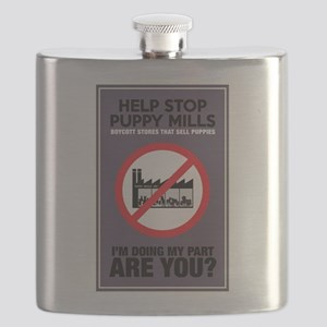 Stop Puppy Mills Flask