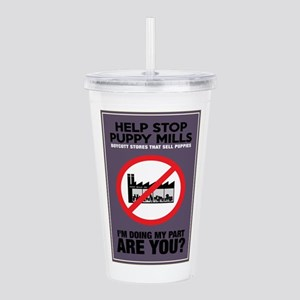 Stop Puppy Mills Acrylic Double-wall Tumbler