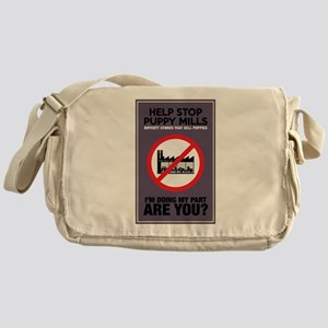 Stop Puppy Mills Messenger Bag