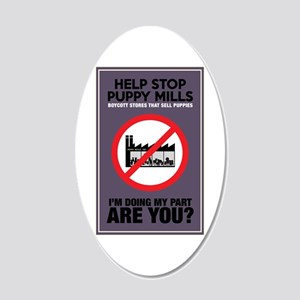 Stop Puppy Mills 20x12 Oval Wall Decal