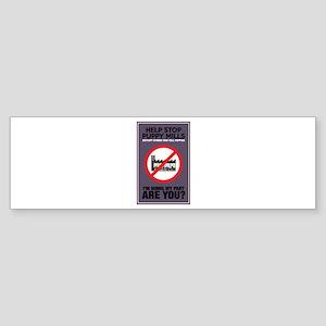 Stop Puppy Mills Sticker (Bumper)