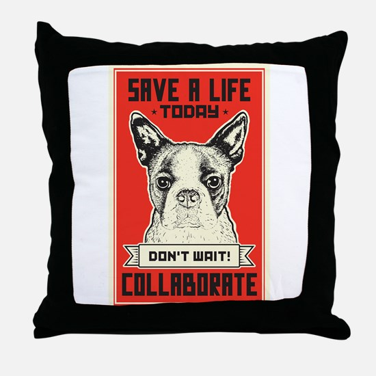 Save A Life Throw Pillow