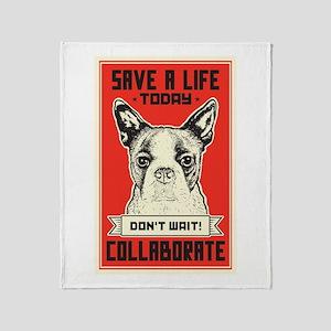 Save A Life Throw Blanket