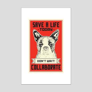 Save A Life Mini Poster Print