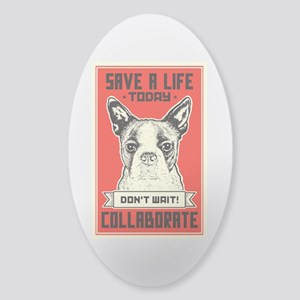 Save A Life Sticker (Oval)