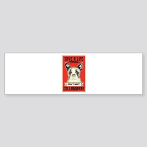 Save A Life Sticker (Bumper)