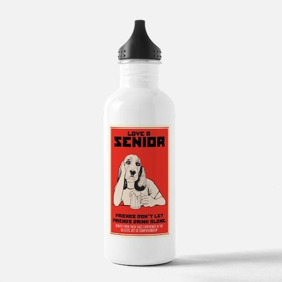 Love A Senior Dog Water Bottle